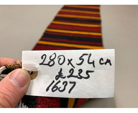 Tapis vieux kilim runner étroit turc 280x54 cm