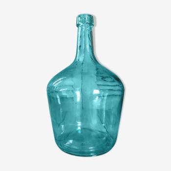 Dame jeanne vert bleuté bonbonne touque bouteille ancienne dp0421308