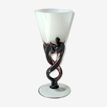 Gobelet en verre, vintage des années 1960