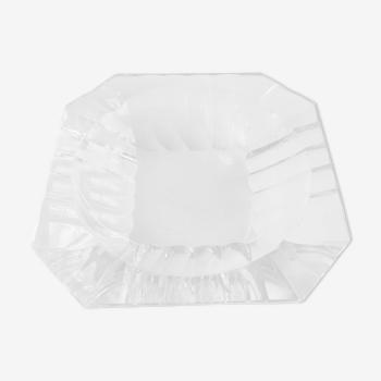 Cendrier en cristal Val Saint Lambert