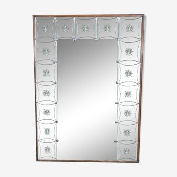 Miroir de brasserie - bistrot verre églomisé 1950