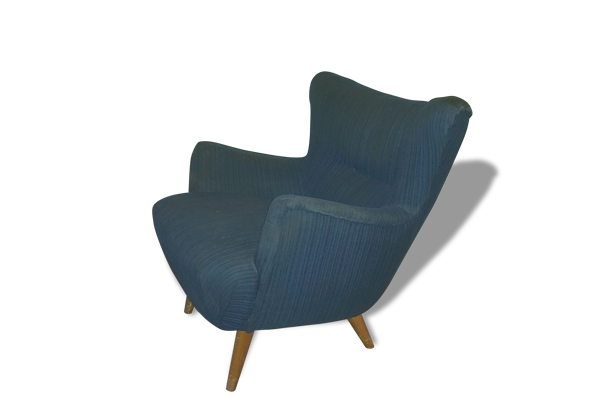 Reare Fauteuil Club Wing chair organic annéee 50