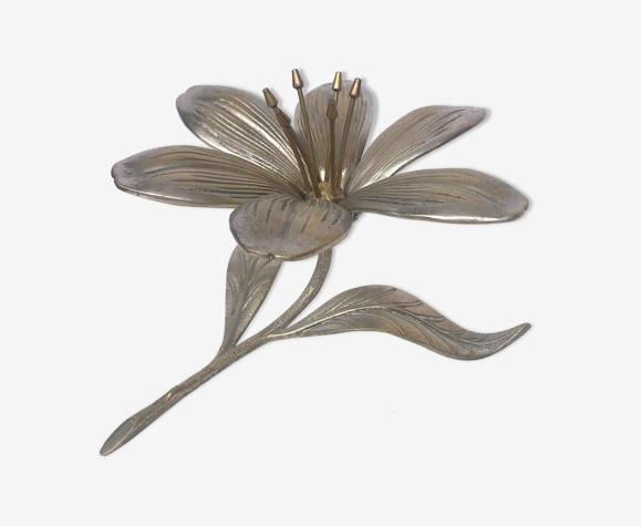 Fleur laiton chromé cendrier et pics apéritif