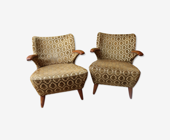 Pair of cocktail armchairs