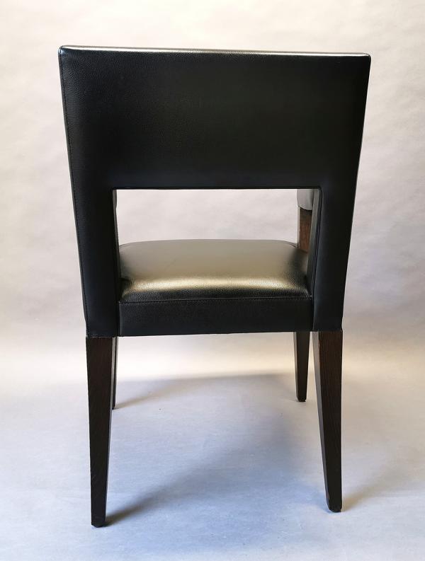 Fauteuil luxe Philippe Hurel en cuir noir