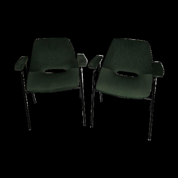 Selency Paire de fauteuils Tonneau
