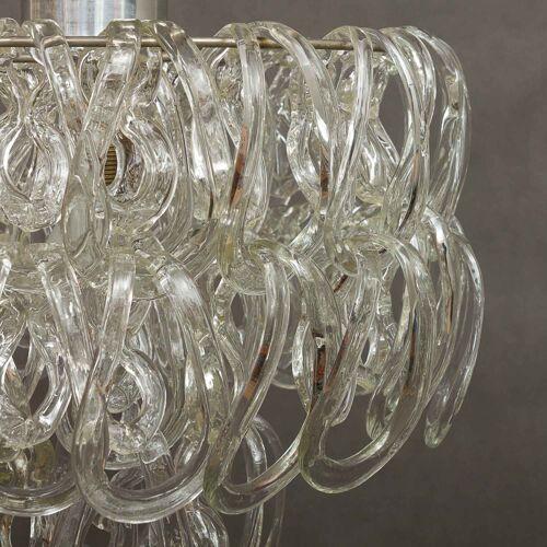 Suspension en verre de Murano Angelo Mangiarotti par Vistosi