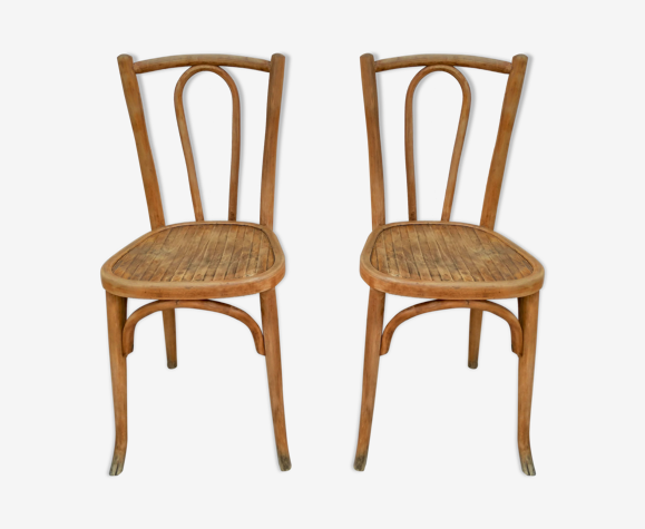 Paire de chaises bistrot Baumann n°42 1/2