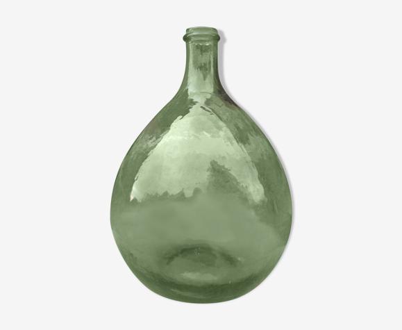Dame jeanne en verre vert contenance 5 litres
