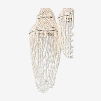 Lustre coquillages chandelier bohème