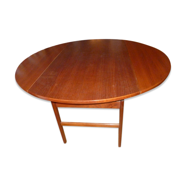 Selency Table teck ronde 1960 Tingstroms Ohlsson transformable