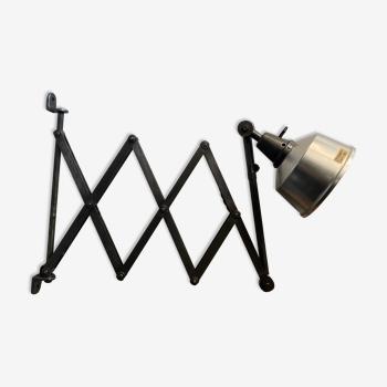 Ancienne lampe industrielle accordeon «midgard»