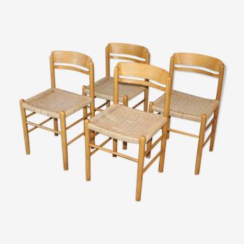 Set de 4 chaises vintage style scandinave