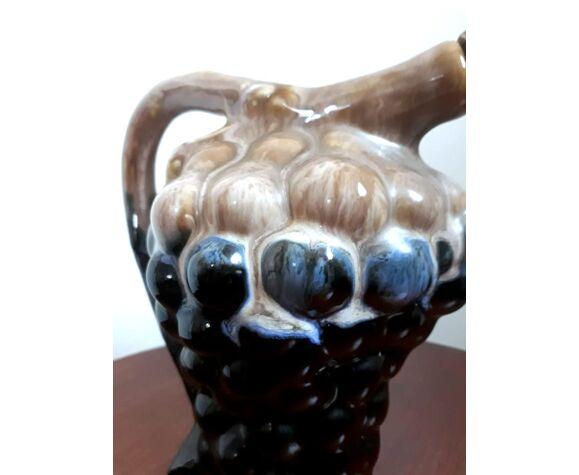 Pichet raisin par Alphonse Mouton et gobelets