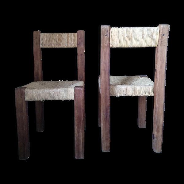 Paire de chaises brutalistes