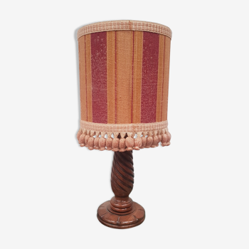 Wooden foot table lamp lampshade
