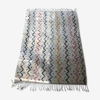 Tapis berber zigzag multi couleur