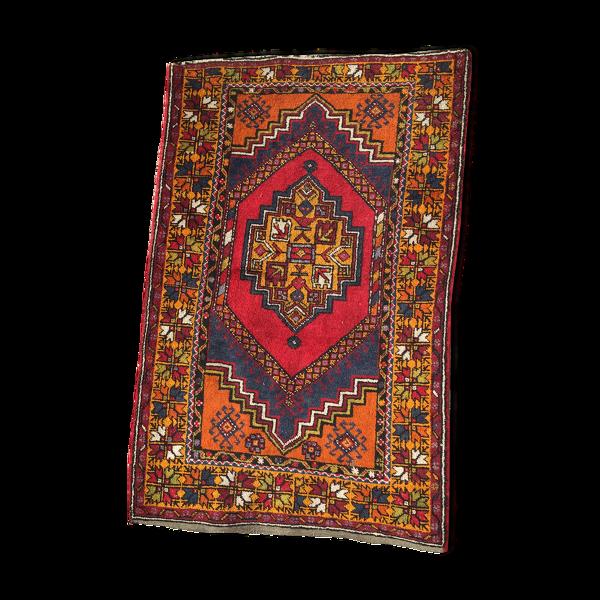 Tapis en laine Asie centrale, fait main, motif non symétrique