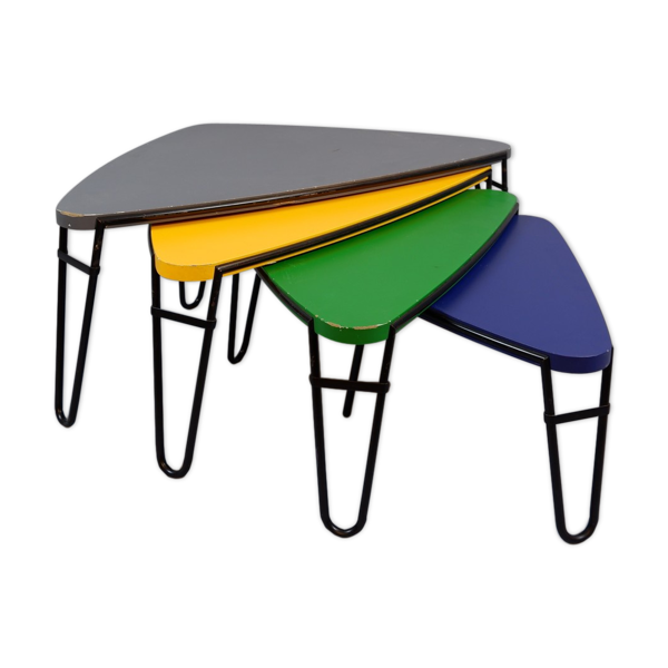 Selency Tables gigognes triangulaires couleurs Italie