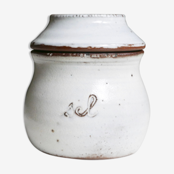 Pot à sel en grès de Jeanne et Norbert Pierlot, années 60