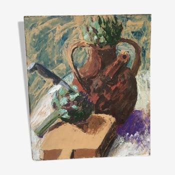 Peinture sur support rigide Nature morte