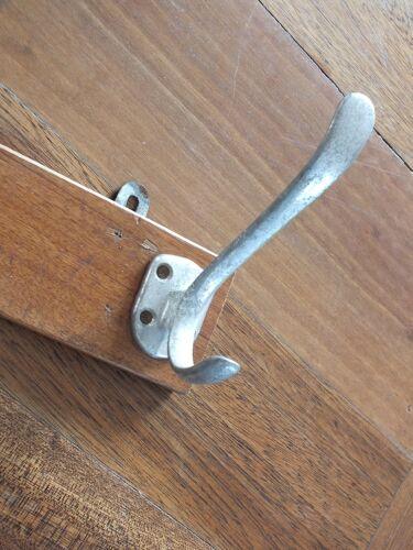 Portemanteau en bois et alu 4 patères