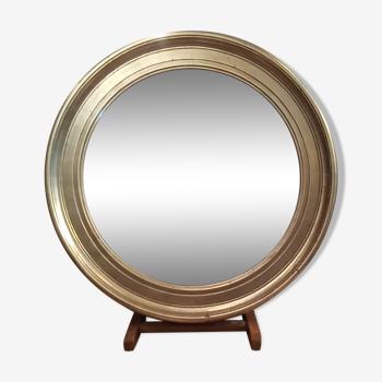 Miroir rond argenté 64cm