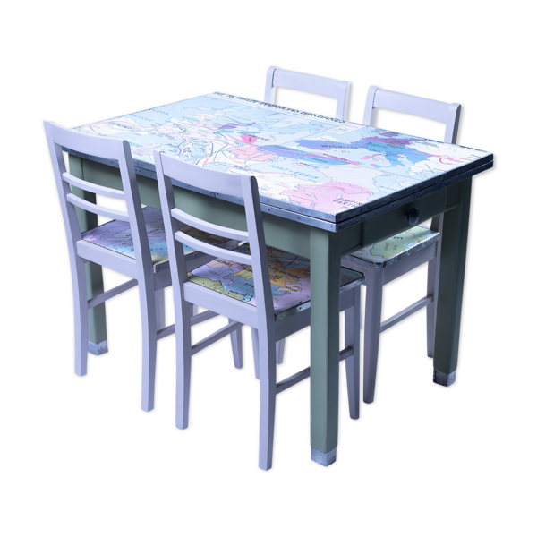 Selency Lot table et chaises