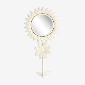 Miroir en forme de fleur, années 50