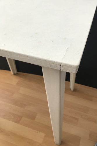 Table bureau pieds compas