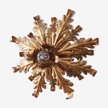 Applique vintage, décor de feuilles d'acanthes, années 60