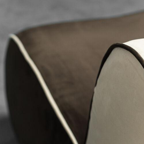 Canapé modulaire 5 places velours des années 70 vintage modernié