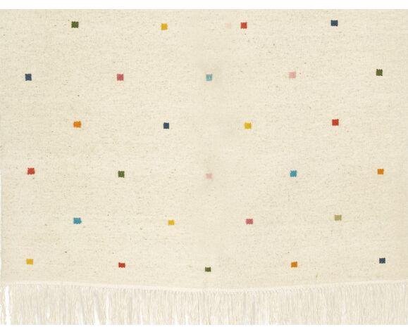 kilim berbère avec carres de couleurs 200 x 150 cm