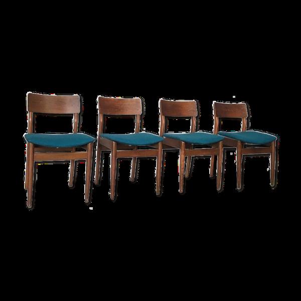 4 chaises scandinaves teck restaurées
