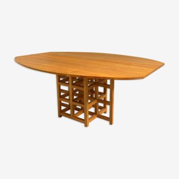 Table en frêne, 1980