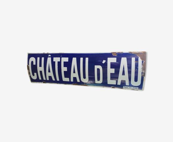 Plaque ancienne émaillée - Métro Château d'Eau