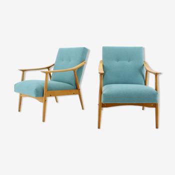 Paire de fauteuils vintage des années 1960, Tchécoslovaquie