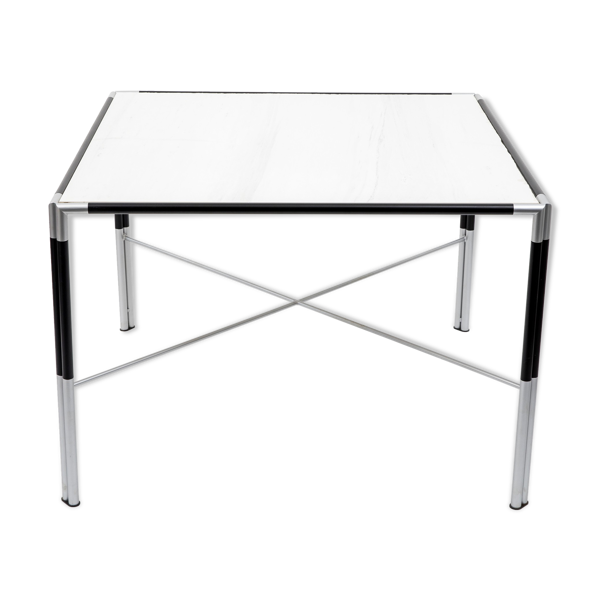 Faux marble-top table