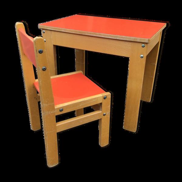 Bureau et chaise enfant école