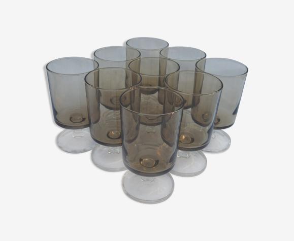 Lot 9 verres Luminarc collection Suède