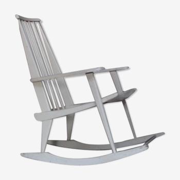 Rocking-chair design vintage de Charles Ramos France 1960