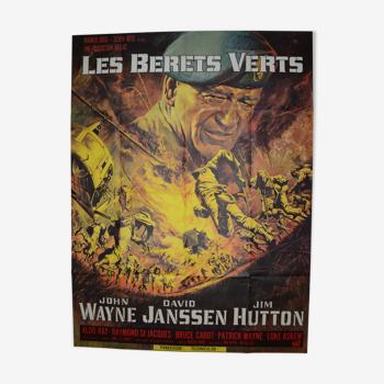 """Affiche cinéma """"Les Bérets Verts """" 1968 John Wayne, Ray Kellogg..."""