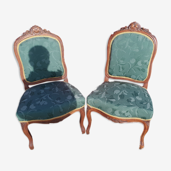 Paires de chaises style Louis XV