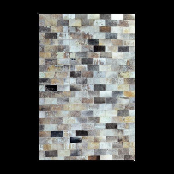 Tapis en cuir avec motifs géométriques rectangulaires