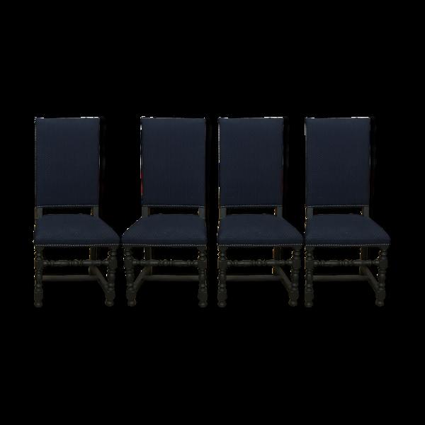 Lot 4 chaises vintage