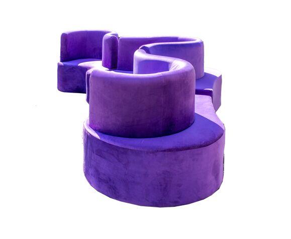 Canapé CLoverleaf violet de Verner Panton pour Verpan