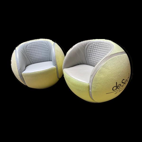 Paire de fauteuils pivotants tennis ball