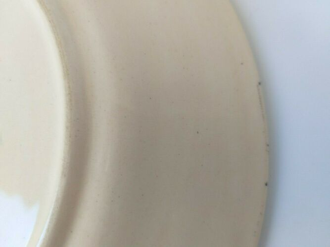 Assiette hb quimper bateau la madame 1678 rv f1 d5589 lisere bleu