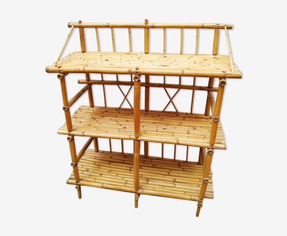 Vintage bamboo shelf