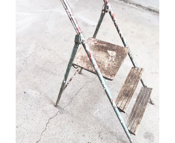 Escabeau de peintre en bois et métal